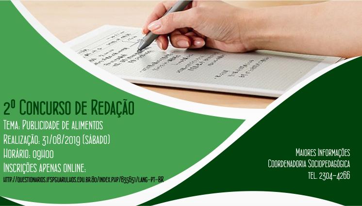 2º Concurso de Redação do IFSP - Câmpus Guarulhos