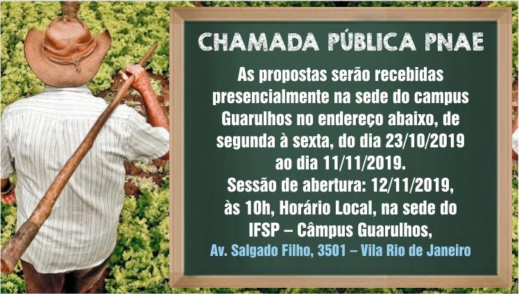 Chamada Pública PNAE 2019