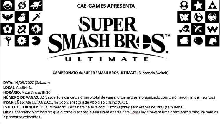 CAMPEONATO de SUPER SMASH BROS ULTIMATE (Nintendo Switch)