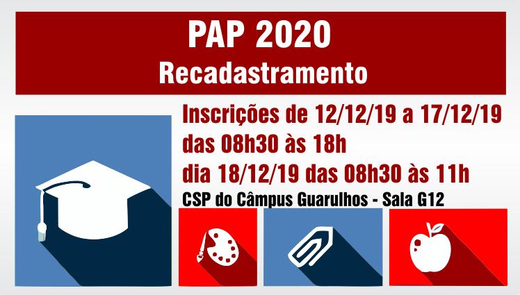 Recadastramento PAP 2020