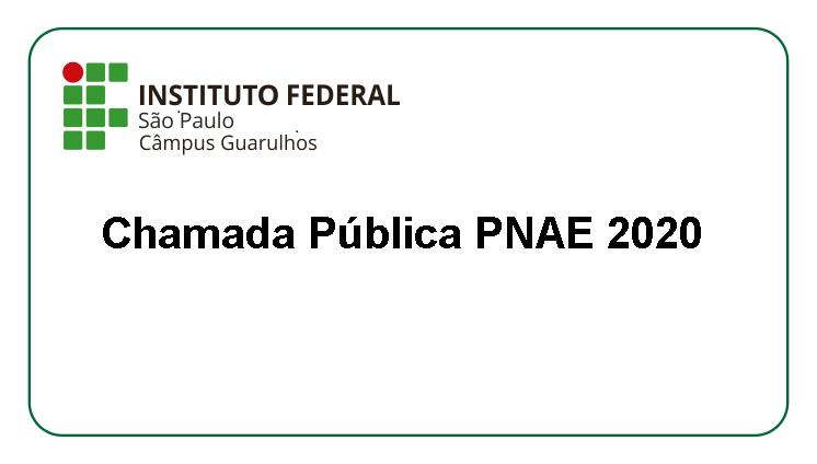 Chamada Pública PNAE 2020