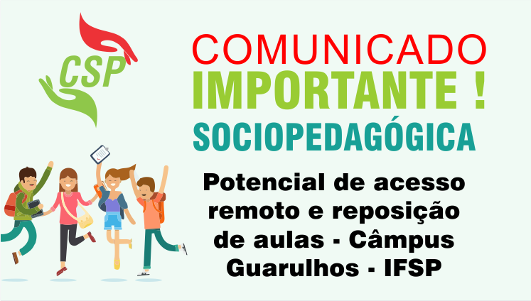 Potencial de acesso remoto e reposição de aulas - Câmpus Guarulhos - IFSP