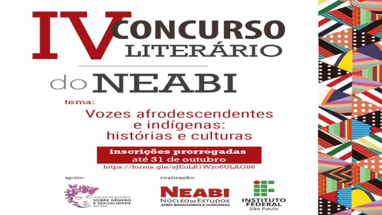 Neabi realiza 4ª edição de concurso literário