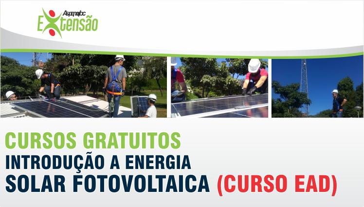 Curso Gratuito EaD - Introdução a Energia Solar Fotovoltaica