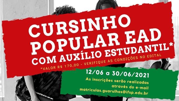 CURSINHO POPULAR EaD - Gratuito