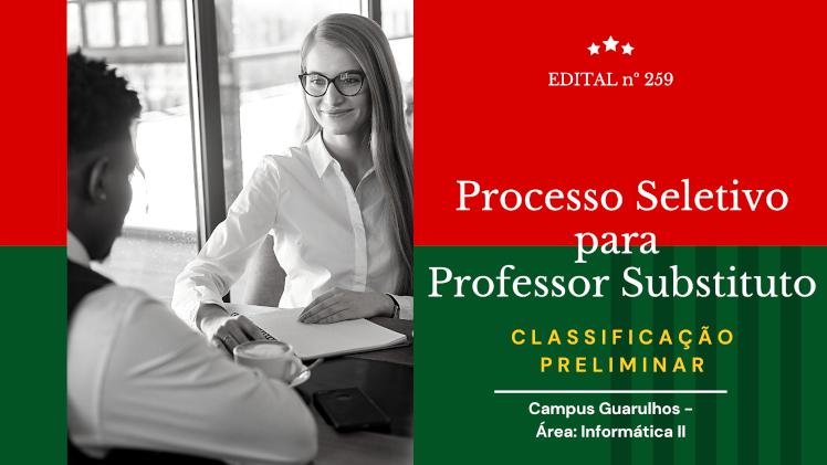 Classificação Preliminar - Processo Seletivo para Professor Substituto - Informática II