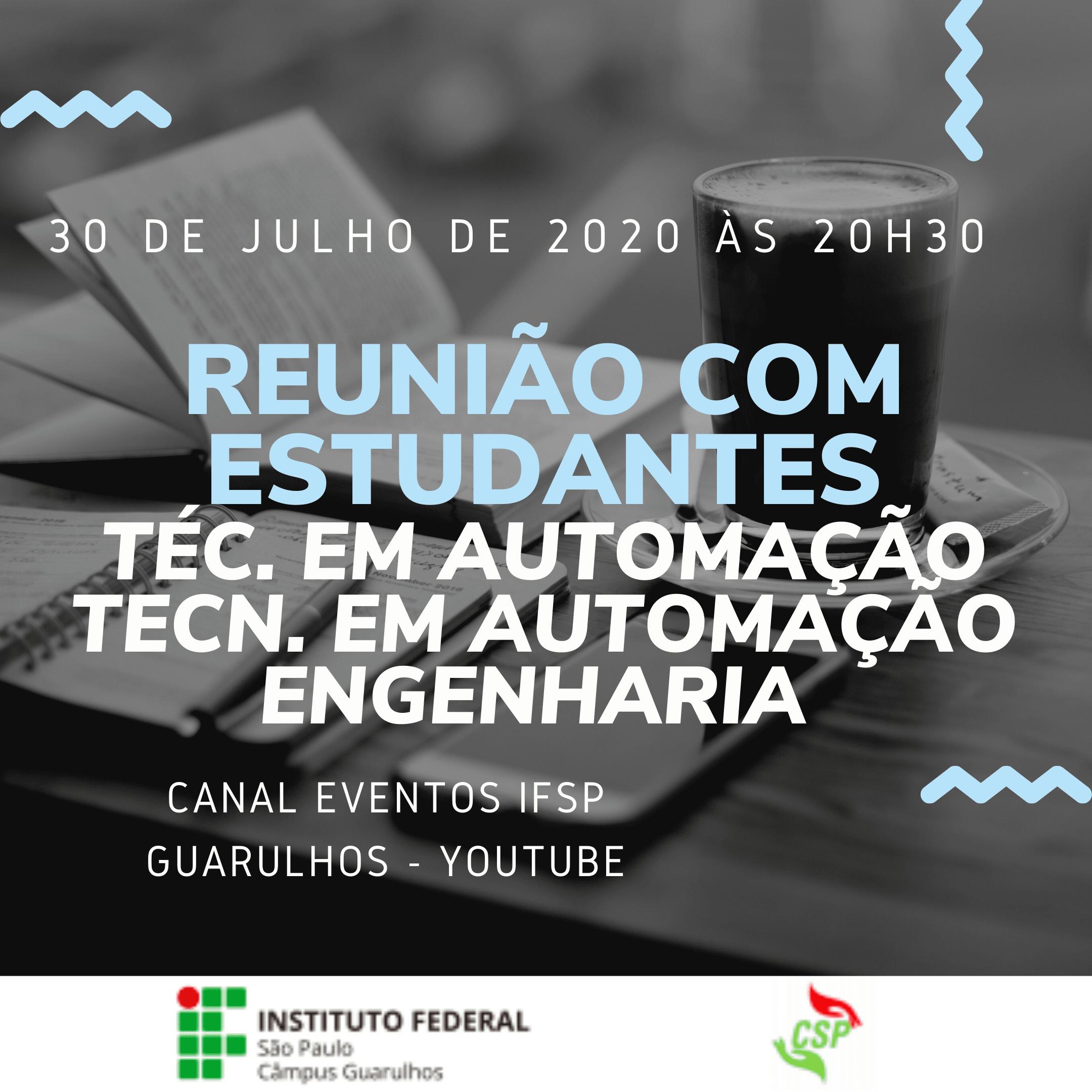 Reunião com estudantes - 30/07/2020