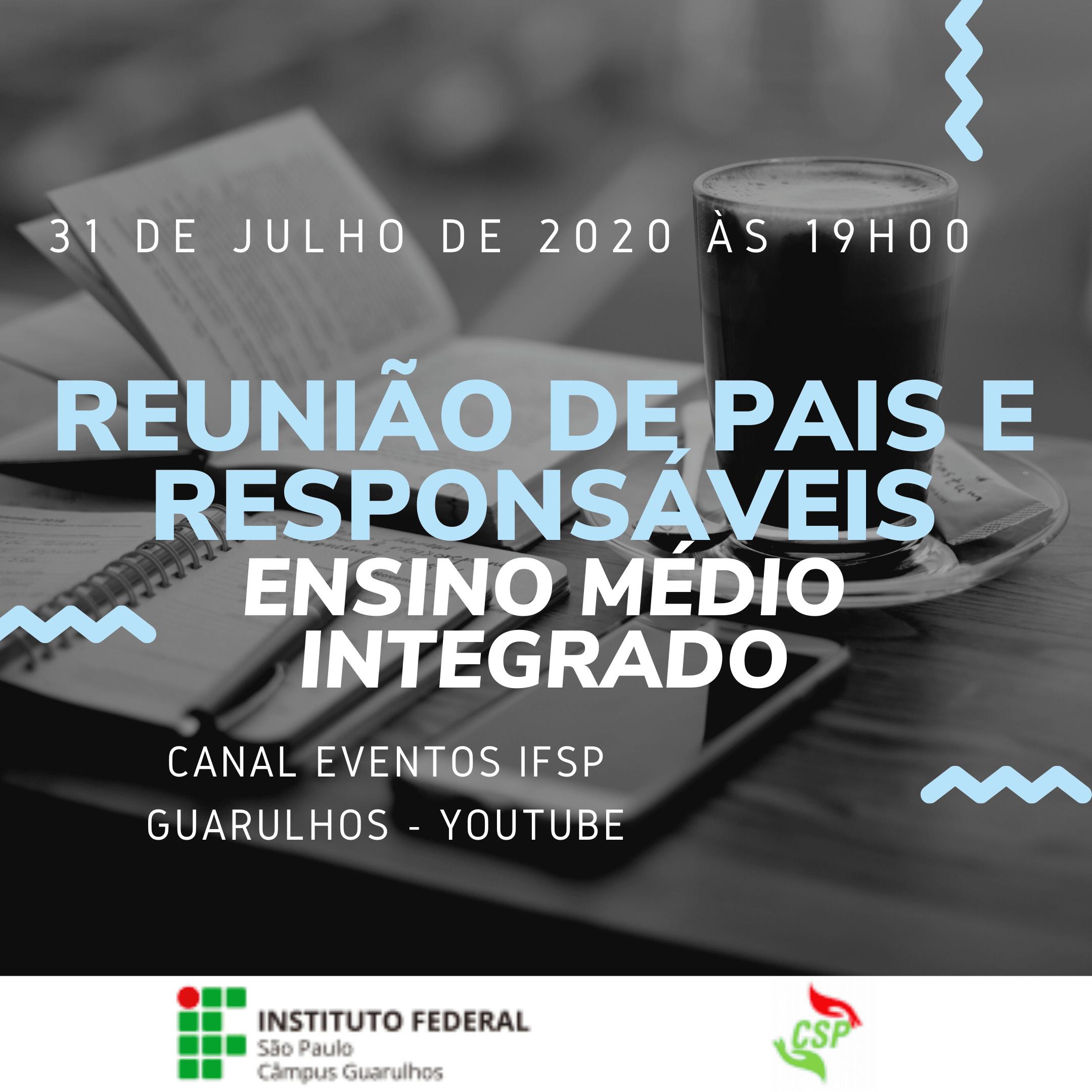 Reunião de pais e responsáveis - 31/07/2020